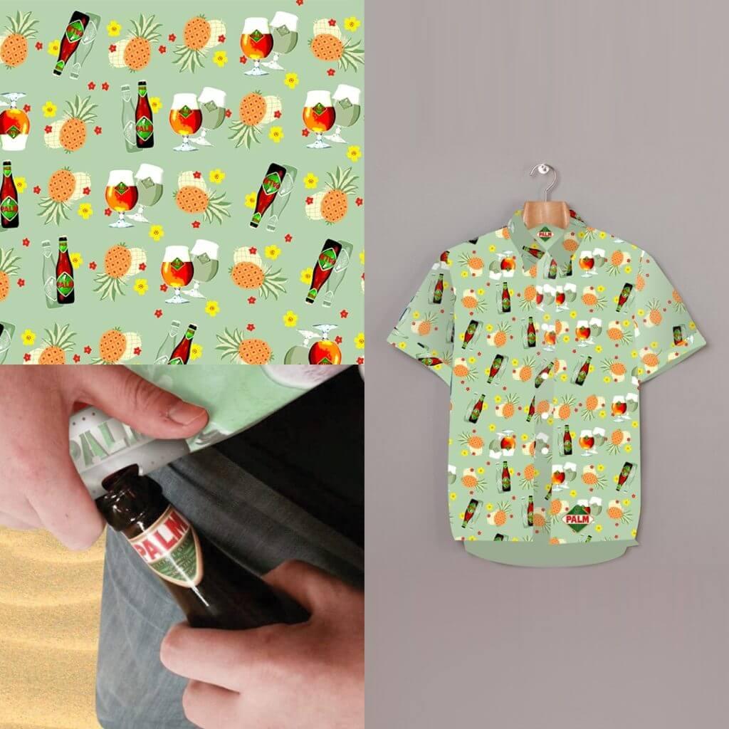Palm shirt detail